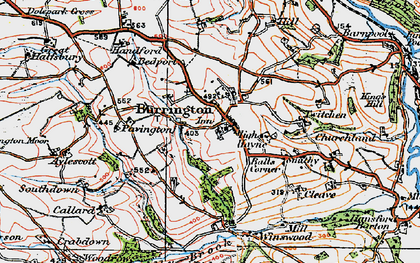 Old map of Balls Corner in 1919