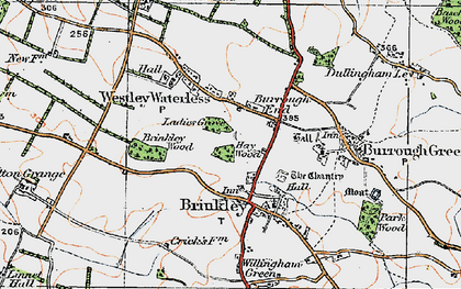 Old map of Burrough End in 1920