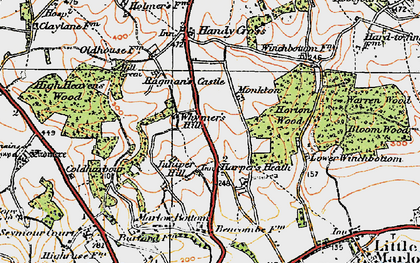 Old map of Burroughs Grove in 1919