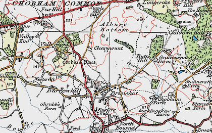 Old map of Albury Bottom in 1920