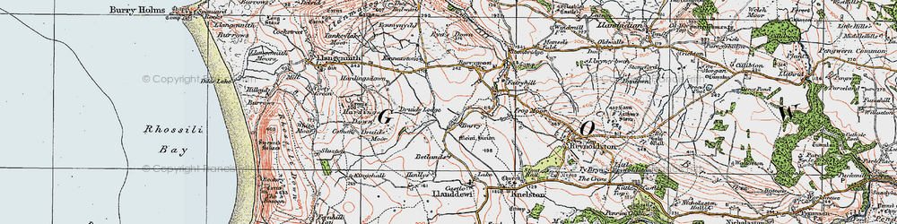 Old map of Burry in 1923