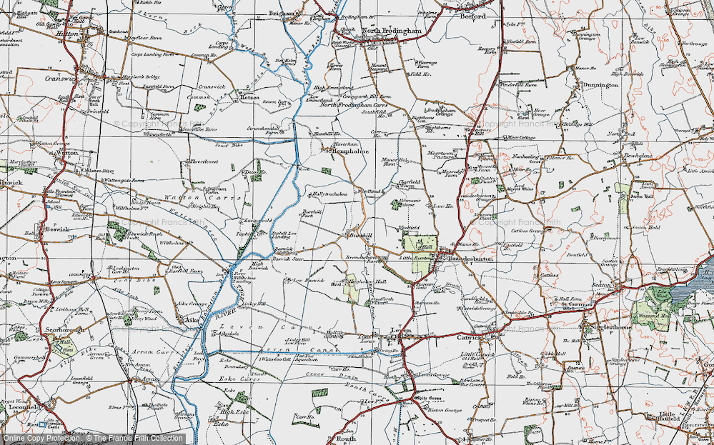 Old Map of Historic Map covering Aldermen's Gorse in 1924