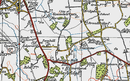 Old map of Burstow in 1920