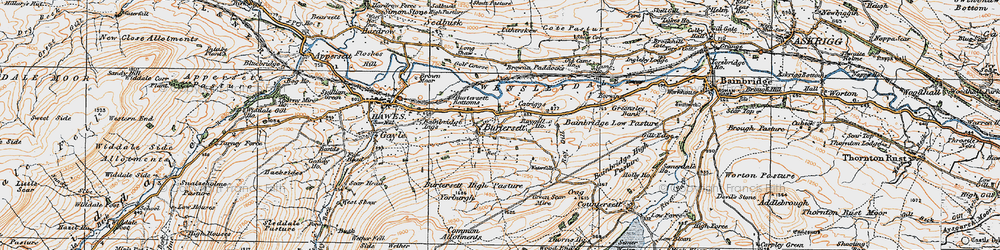 Old map of Yorburgh in 1925