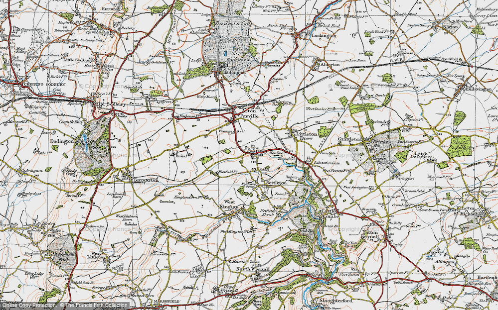 Old Map of Burton, 1919 in 1919