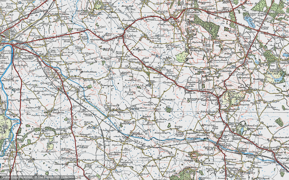 Old Map of Burton, 1923 in 1923