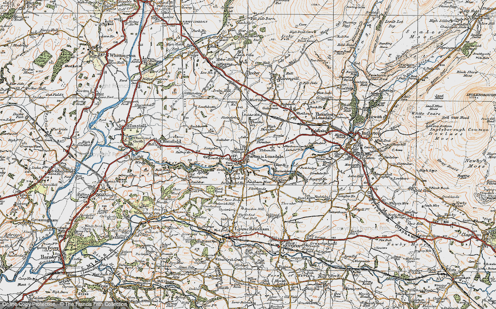 Old Map of Burton in Lonsdale, 1924 in 1924