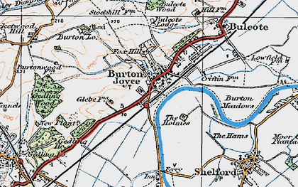 Old map of Burton Joyce in 1921