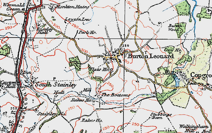 Old map of Burton Leonard in 1925