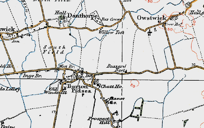 Old map of Willow Toft Fox Covert in 1924