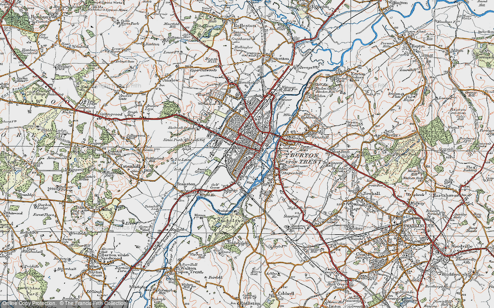 Burton On Trent Map Map of Burton upon Trent, 1921   Francis Frith
