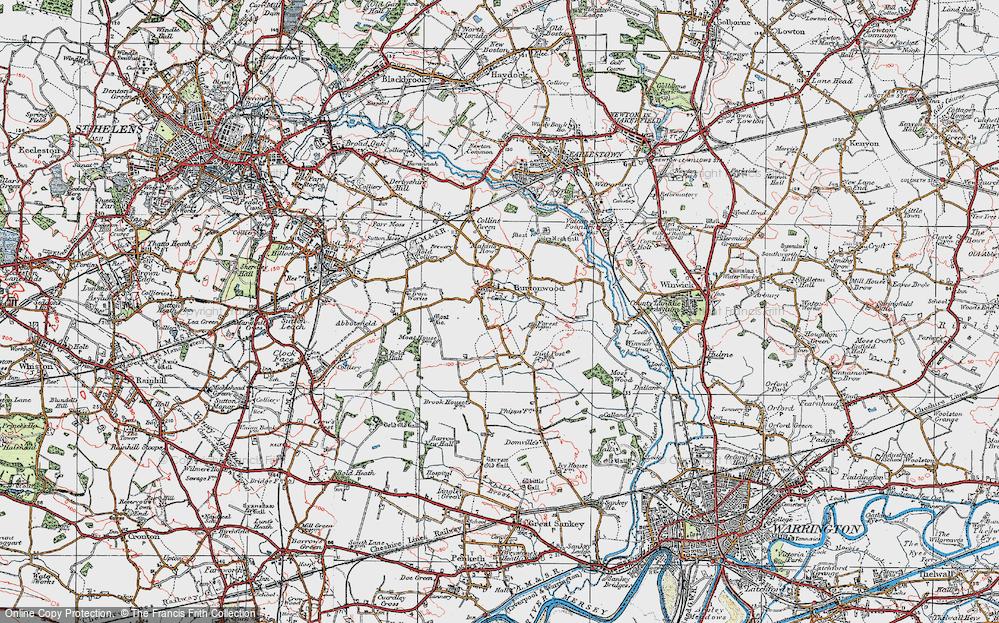 Old Map of Burtonwood, 1923 in 1923