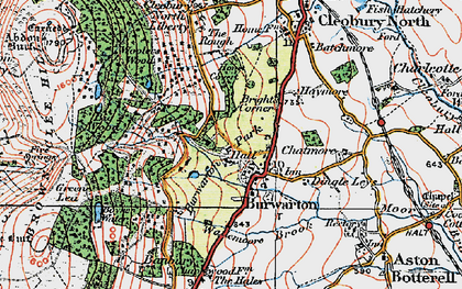 Old map of Banbury in 1921