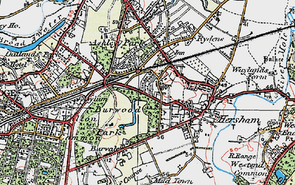 Old map of Burwood Park in 1920