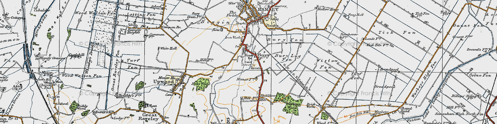 Old map of Wistow Fen in 1920