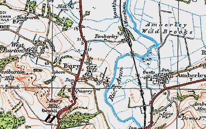 Old map of Bury in 1920