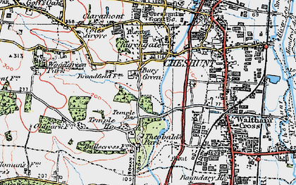 Old map of Bury Green in 1920