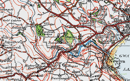 Old map of Buryas Br in 1919
