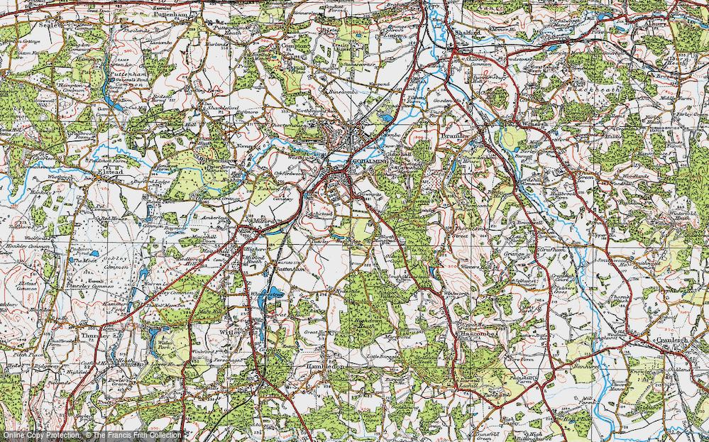 Old Map of Busbridge, 1920 in 1920