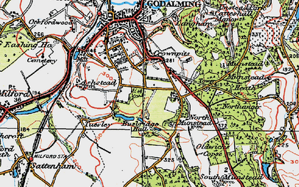 Old map of Busbridge in 1920