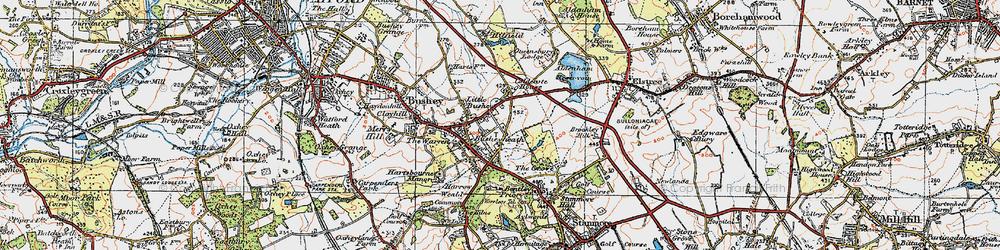 Old map of Bushey Heath in 1920