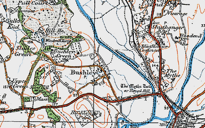 Old map of Bushley in 1920