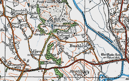 Old map of Windmill Tump in 1920