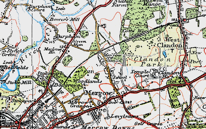 Old map of Bushy Hill in 1920
