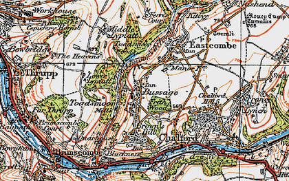 Old map of Bussage in 1919