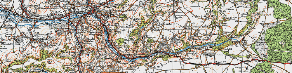 Old map of Toadsmoor Valley in 1919