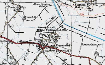 Old map of Lang Moor in 1919