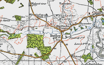 Old map of Butley in 1921