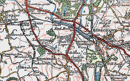 Old map of Linley Hall in 1923