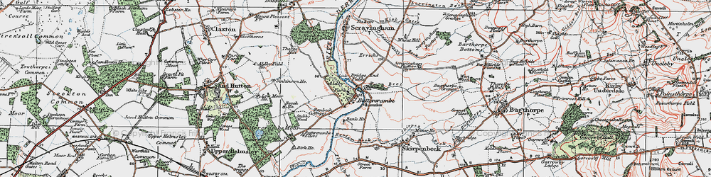Old map of Aldby Park in 1924