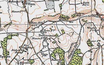 Old map of Ballyack Ho in 1919