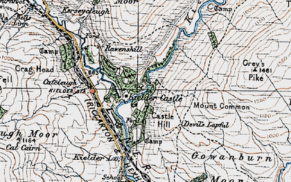 Old map of Bakethin Reservoir in 1925