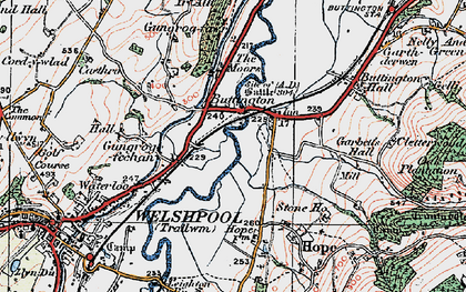 Old map of Buttington in 1921