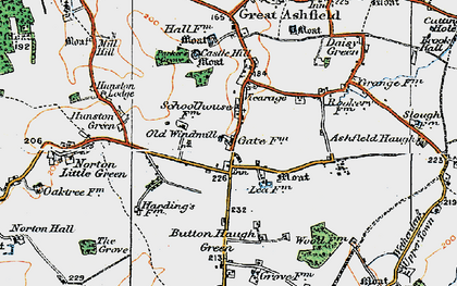 Old map of White Gates in 1920