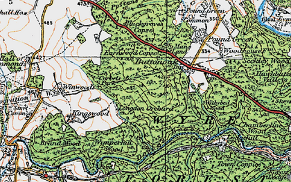 Old map of Winwoods in 1921