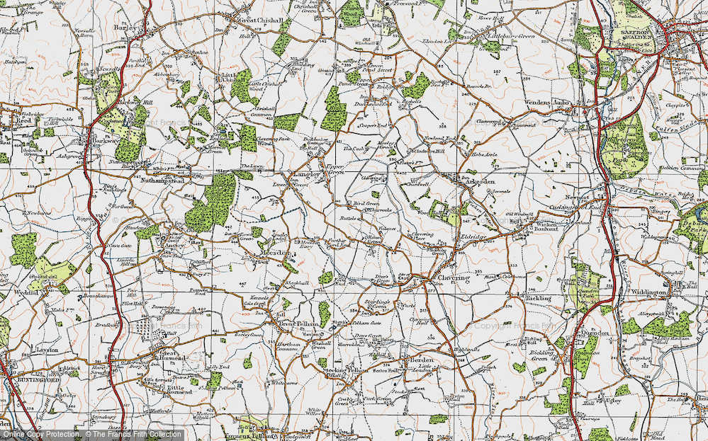 Old Map of Historic Map covering Thurrocks in 1919
