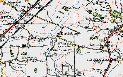 Old map of Tilehurst in 1920