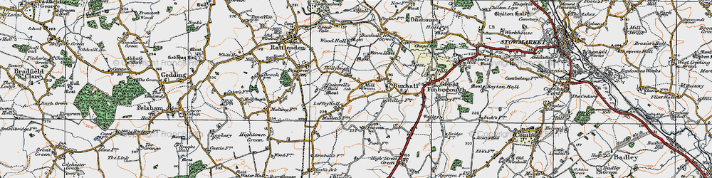 Old map of Wood Hall in 1921
