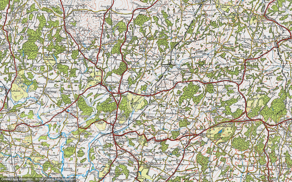 Old Map of Buxted, 1920 in 1920