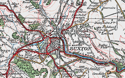 Old map of Buxton in 1923