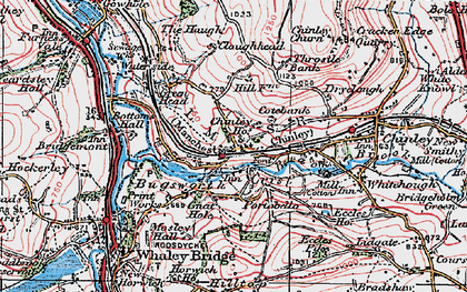 Old map of Buxworth in 1923
