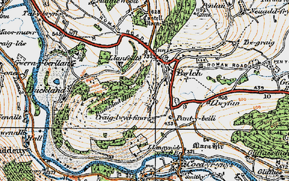 Old map of Bwlch in 1919