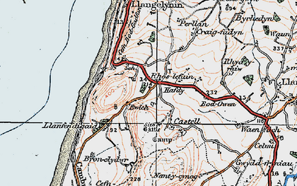 Old map of Bwlch in 1922