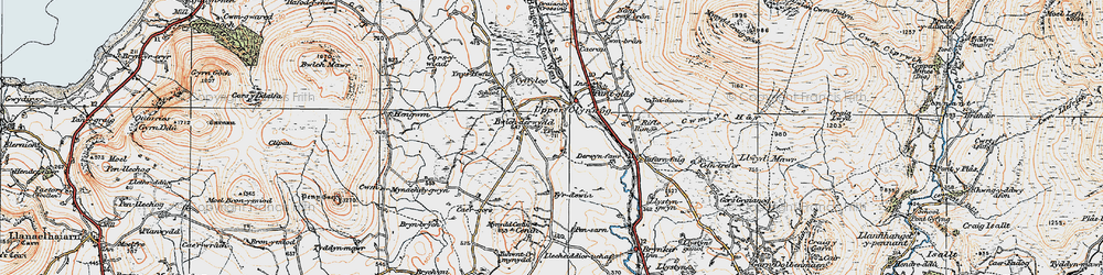 Old map of Y Foel in 1922