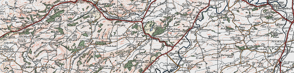 Old map of Allt y Main in 1921