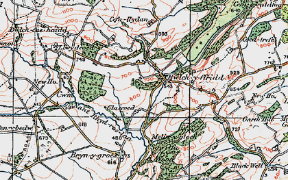 Old map of Bwlch-y-ffridd in 1921